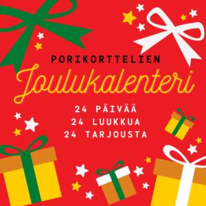 porikorttelien joulukalenteri alkaa 1. joulukuuta